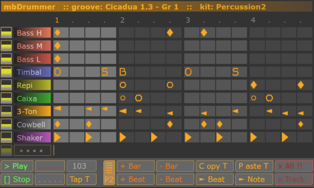 Full screenshot of mbDrummer 2
